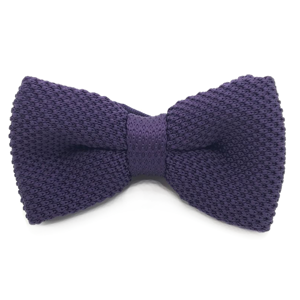Purple Knitted Cotton Bow Tie - John