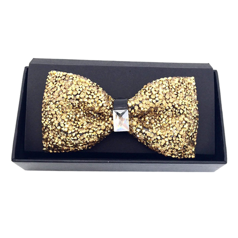 Gold Crystal Bow Tie - Heather