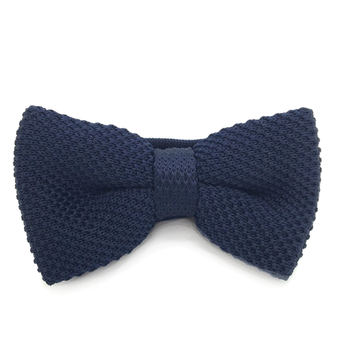 Navy Knitted Cotton Bow Tie - Jeremiah