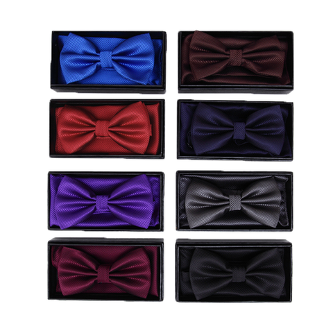 Pink Textured Satin Bow Tie and Pocket Square Box Set - Issac
