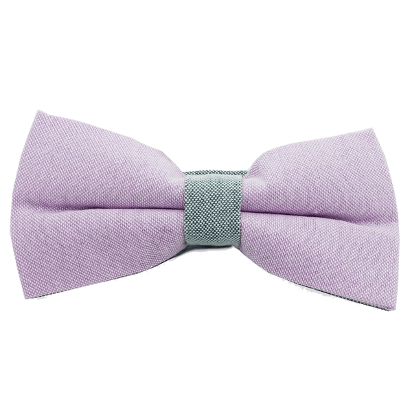 Bowties - Purple and Grey Textured Cotton Bow Tie - Adler - The Little Link