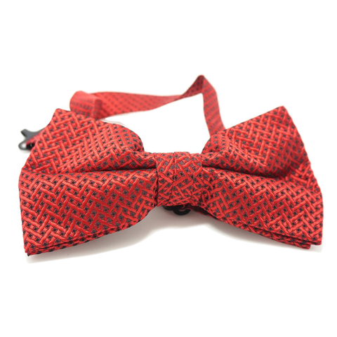 Red and Black Textured Bow Tie - Craig