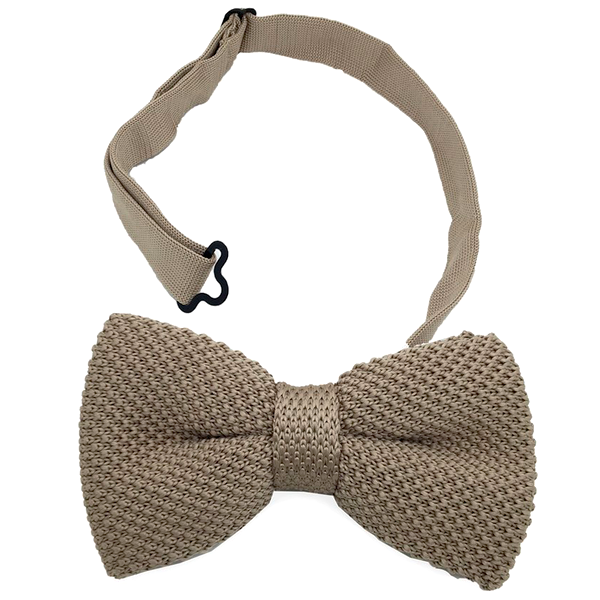 Brown Cotton Textured Bow Tie - Josiah