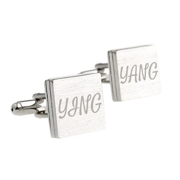 Silver Engravable Cufflinks - Plains