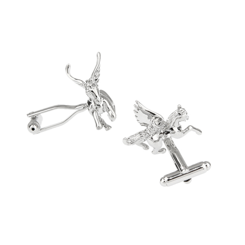 Silver Animal Cufflinks - Pegasus