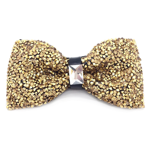 Heather Crystal Bow Tie