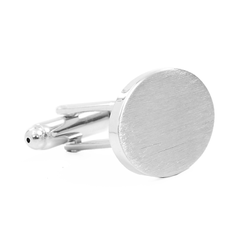 Silver Custom Engravable Cufflinks - Grady O4