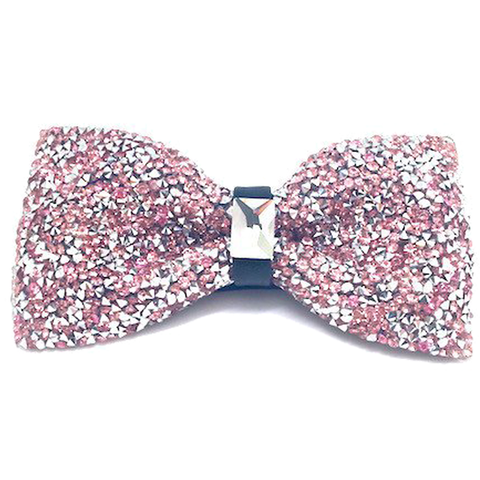 Pink Crystal Bow Tie - Maxine
