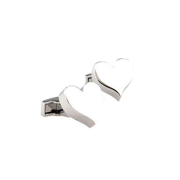 Classic Cufflinks - Heart - The Little Link