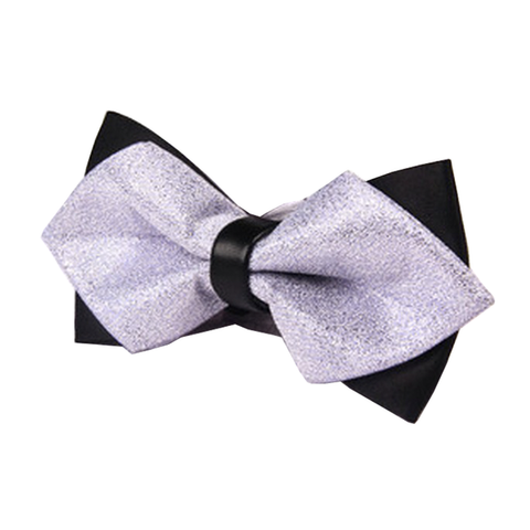 Bowties - Black and Purple Satin Bow Tie - Connor - The Little Link