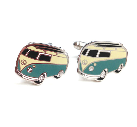 Novelty Cufflinks - Vintage Kombi Vans - The Little Link