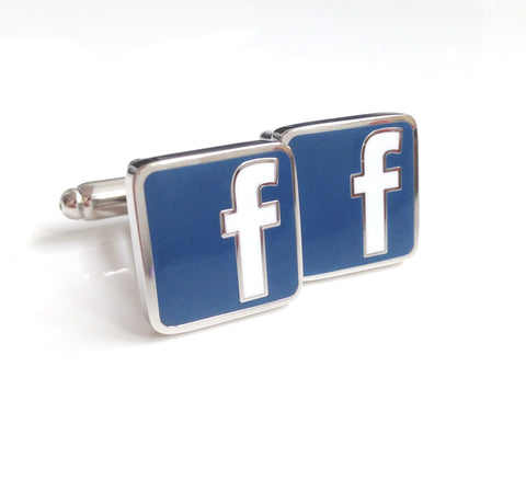 Novelty Cufflinks - Facebook - The Little Link