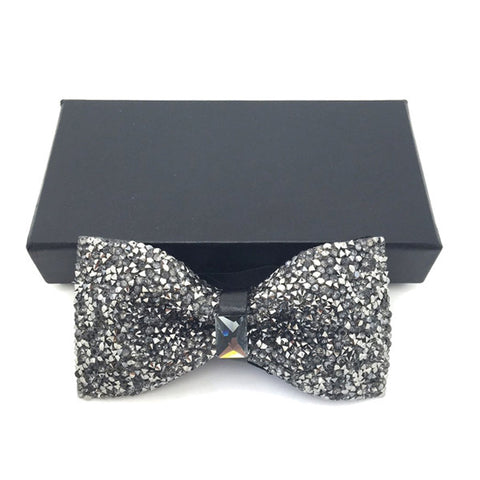 Black Crystal Bow Tie - Praline