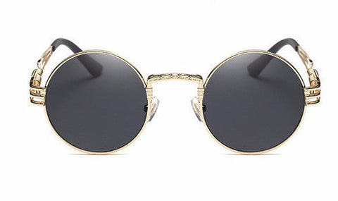 Shinto Gothic Steampunk Sunglasses- Gold