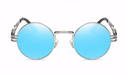 Sunglasses - Shinto Gothic Steampunk Sunglasses - Blue - The Little Link