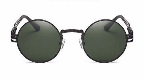 Shinto Gothic Steampunk Sunglasses - Dark Green