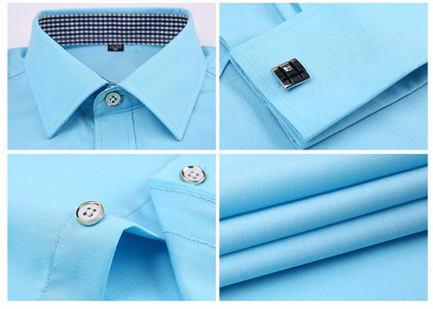 French Cuff Dress Shirt - Turquoise