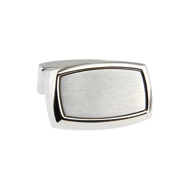 Silver Classic Cufflinks - Rounded Rectangle
