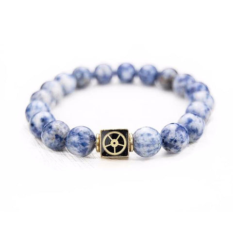 Bracelet - Sodalite Bead Bracelet - The Little Link