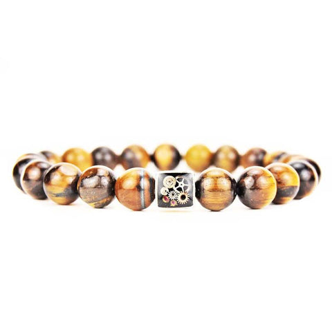 Bracelet - Tigers Eye Bead Bracelet - The Little Link