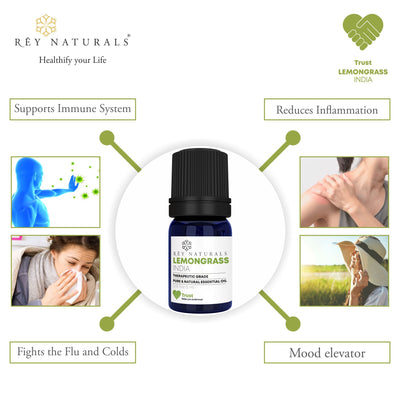 LEMONGRASS PURE ESSENTIAL OIL 5ML