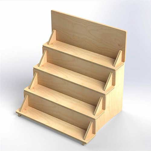 Wooden Counter-Top Spice Rack