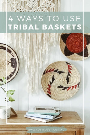 4 ways to use tribal baskets - bohemian interiors - boho style