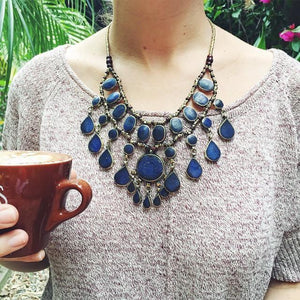 Tribal Lapis Lazuli Necklace - Necklace - Lost Lover