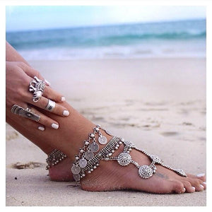 Anatolian anklet with coins - Anklet - Bohemian Jewellery and Homewares - Lost Lover