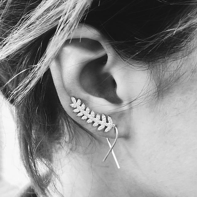 The Silver Fern Ear Cuff - Earrings - Bohemian Jewellery and Homewares - Lost Lover