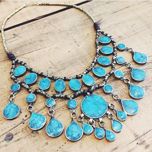 Tribal turquoise necklace - Lost Lover - 2