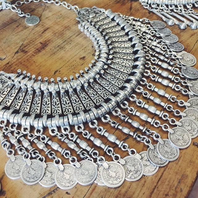 Ankara necklace with coins - long - Lost Lover - 1