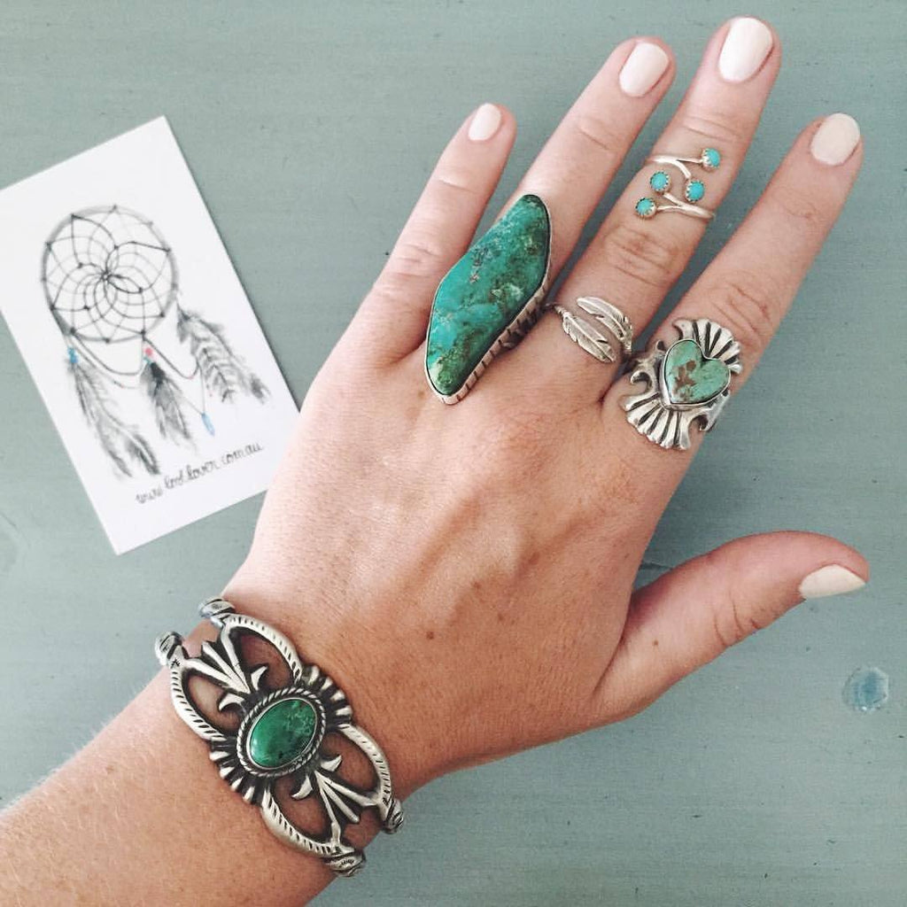 Wild Feather Navajo Ring - Lost Lover - 4
