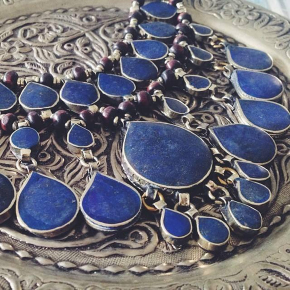 Tribal lapis lazuli necklace - Lost Lover - 1
