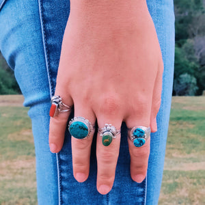 Number 8 Turquoise Navajo Ring - Ring - Bohemian Jewellery and Homewares - Lost Lover