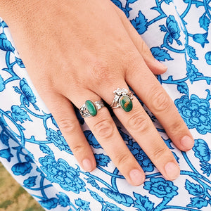 Royston Turquoise Zuni Ring - Ring - Bohemian Jewellery and Homewares - Lost Lover