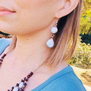 Tribal Red Stone Earrings