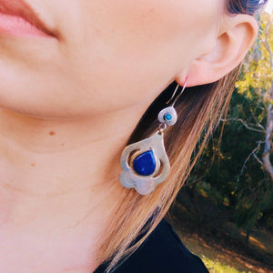 Turkmen Teke Earrings - Lapis