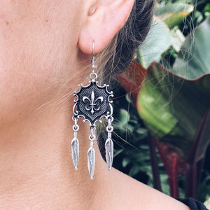 "Anatolian Earrings - ""Fleur-de-lis"" - Earrings - Bohemian Jewellery and Homewares - Lost Lover"