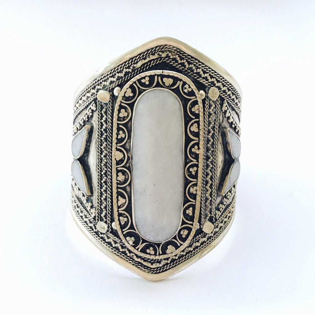 White howlite tribal cuff - Lost Lover - 3