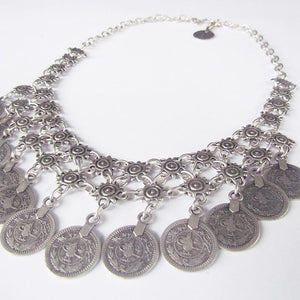 Alucra necklace with coins - Necklace - Bohemian Jewellery and Homewares - Lost Lover