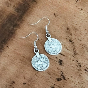 "Anatolian Earrings - ""Single Coin"" - Earrings - Bohemian Jewellery and Homewares - Lost Lover"