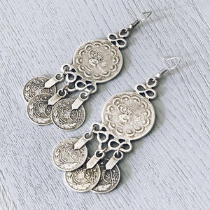 "Anatolian Earrings - ""Turkish Coins"" - Earrings - Bohemian Jewellery and Homewares - Lost Lover"