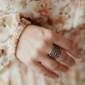 "Anatolian Ring - ""Filigree Flower"""
