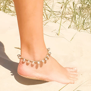 Boho jingle anklet