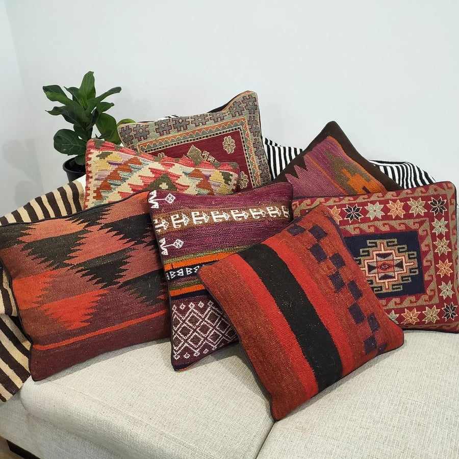 Chobi Kilim cushion cover - 07 - Cushion - Bohemian Jewellery and Homewares - Lost Lover