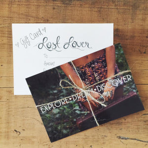Gift Card -  - Bohemian Jewellery and Homewares - Lost Lover