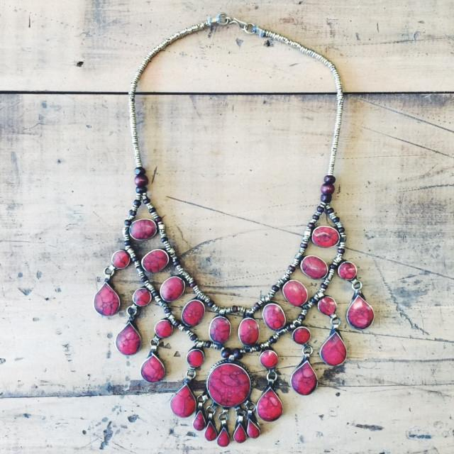 Tribal coral necklace - Lost Lover - 2