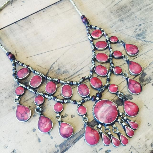 Tribal coral necklace - Lost Lover - 1