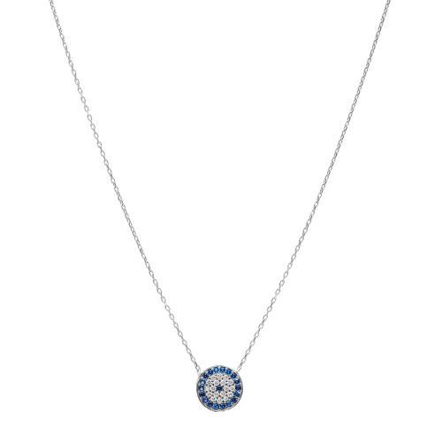 Crystal Evil Eye pendant on chain - Lost Lover - 2